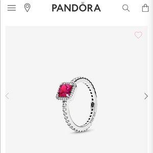 PANDORA Timeless Elegance Synthetic Ruby Ring✨❤️